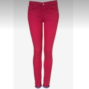 TOPSHOP Moto Leigh Pink Stretch Jeans, 30